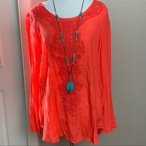 Spense Coral Long sleeved blouse